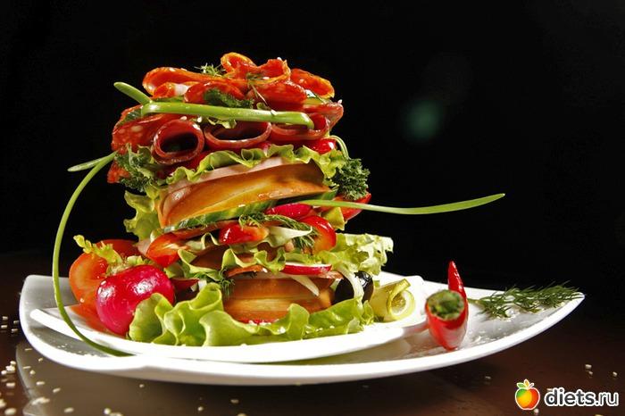 красивые салаты ресторанов фото
