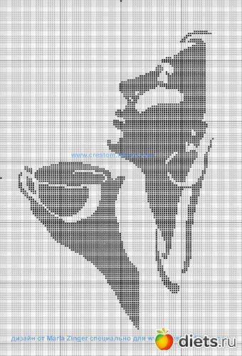 схема девушки с кофе