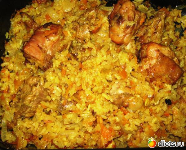 Вкусный плов из курицы на сковороде рецепт пошагово