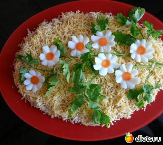 Необычные салаты с фото и рецептами