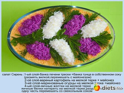 Салат букет сирени пошаговый рецепт