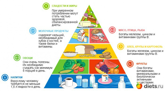 принципы правильного питания для снижения веса меню