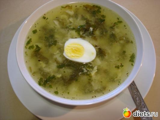 Щавелевый суп 57ккал на 100г: : Дневники - diets.