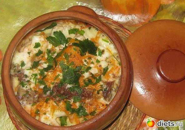 Картошка в горшочке в духовке рецепт с фото со сметаной
