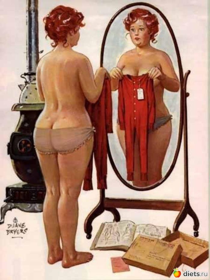 На его картинахies, это не о Вас - Вы девушка тоненькая. Эта