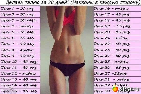 программа похудения спорт и питание