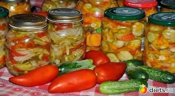 Консервированные салаты на зиму без стерилизации
