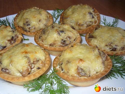Жульен с курицей и грибами в тарталетках рецепты простые и вкусные